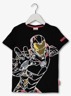 Marvel Avengers Iron Man Black T-Shirt - 13 years Marvel Kids, Marvel Avengers, Boys T Shirts, T Shirts For Women, Kids Sportswear, Marvel Clothes, Boys Pajamas, Summer Shirts, Printed Shirts