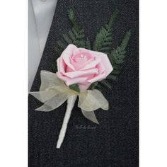 Grooms Buttonholes - Vintage Pink Rose Wedding Corsage - Fern & Wrap Stem Design Pink Wedding Theme, Rose Wedding, Wedding Day, Corsage Wedding, Wedding Bouquets, Uk Bride, Pink Color Schemes, Corsage Pins, Foam Roses
