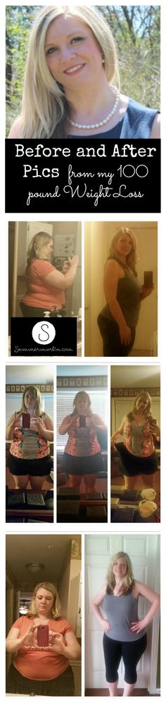 Before and After Pics from my 100 Pound Weight Loss! See how I did it!