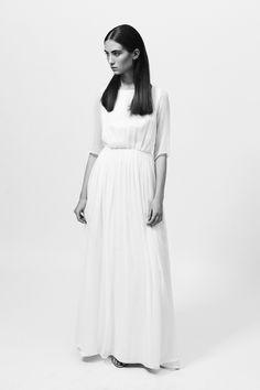 Zofia Chylak - Silk satin  and  georgette dress
