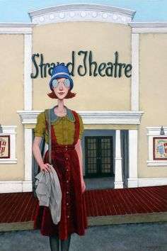 """Fred Calleri, """"Goggles The Sequel"""", 24 x 36, Oil on Canvas 