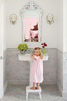 venetian mirror - perfect for powder room