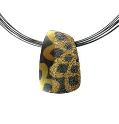 Dahlia Pattern Pendant by Jenny Reeves: Gold & Silver Necklace available at www.artfulhome.com