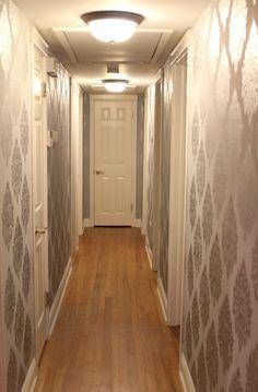 stenciled hallway