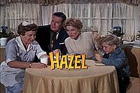 Hazel - one of the best shows ever.  It's on Antenna TV at 2:30 weekdays.  This is why I need to get TiVo!