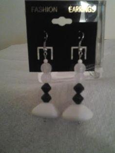 B&W earrings