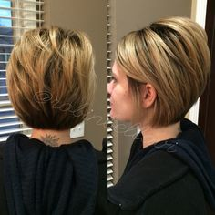 Cute short haircut #balayage #blonde #deep #naturalroot #rootyhair