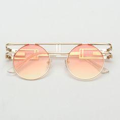 2c83537e6eaef Royal girl qualidade de armação de metal homens góticas steampunk óculos de  sol das mulheres designer