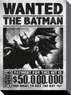 Buy Batman Arkham Origins Wanted Wall Poster online and save! Batman Arkham Origins Wanted Wall Poster Batman: Arkham Origins is an upcoming video game being developed by Warner Bros. Games Montréal and released. Batman Poster, Poster Xxl, Comic Poster, Batman Arkham Origins, Batman The Dark Knight, Deadshot, Deathstroke, Nightwing, Batgirl