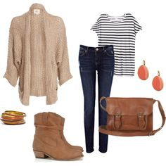 """Easy Fall Outfit"" by jacquelinespruijt on Polyvore"