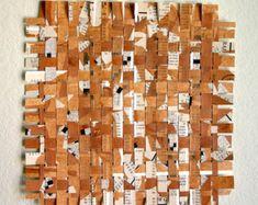 Cruciverba marrone carta tessitura intrecciato - Puzzle intrecciato Art - Arte - Siena, bianco, Nero - 10 x 10
