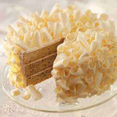 White Chocolate Creme Cake--I bet Mommy would love this cake for her birthday, especially if I put a raspberry filling in between the layers. :-)