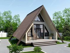 Architecture – Enjoy the Great Outdoors! Rest House, Tiny House Cabin, Cabin Homes, Micro House Plans, A Frame House Plans, Container Home Designs, Style At Home, Tiny Mobile House, Triangle House