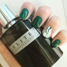 Ногти маникюр зелёный дизайн весна 2017 красота