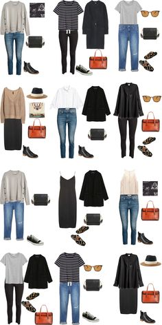 In this post I have 24 outfit options for the What to Pack for Malta packing list from last day. It is a 14 day trip for spring but can easily