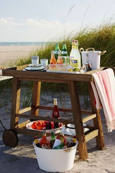 Beachy Cocktail Setup from West Elm