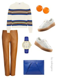 """Funny you"" by aakiegera on Polyvore featuring мода, Joseph, MSGM, Puma, Roland Mouret, Kate Spade и NOVICA"