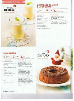 Revista bimby pt-s02-0037 - dezembro 2013 Getting Drunk, Doughnut, Cooking Tips, Goodies, Menu, Yummy Food, Favorite Recipes, Sweets, Cake