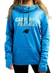 "Carolina Panthers Women's Majestic NFL ""Speed Fly"" Cowl N…"
