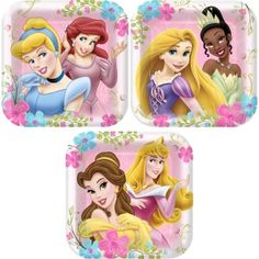 Disney Princess Party Supplies Disney Party Plates #partysupplies