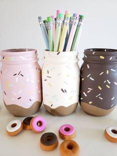 Pot Mason Diy, Mason Jar Crafts, Bottle Crafts, Diy Crafts For Teens, Fun Diy Crafts, Teen Girl Crafts, Easy Crafts To Sell, Sell Diy, Preschool Crafts