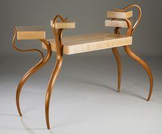"David Upfill-Brown Gerringong, Australia. Cabot Cabinet #1, 2012. Cherry, hard maple,leather, polyeurethane, waterlox. 40"" x 58"" x 24""."