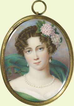 Louisa, Duchess of Saxe-Coburg-Saalfeld (1800-1831) | Royal Collection Trust  A posthumous miniature portrait of Prince Albert's mother commissioned by Queen Victoria.
