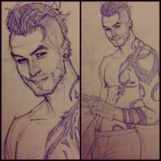 Daken:: Hopefully he looks Eurasian enough cause lord knows no one draws him that way.