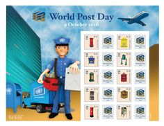 Stamps, World Post Day, Mail