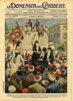 غلاف احدى المجلات الاوربية الايطالية تتحدث عن دور سيدات مصر فى ثورة 1919