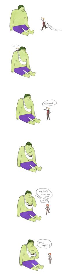 Found on gingerhaze.tumblr.com | http://gingerhaze.tumblr.com/post/22012297333/large-size-have-a-shmoopy-hulkeye-comic-because