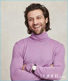 Alexander DiPersia wears turtleneck Versace and G-Timeless Automatic watch Gucci.