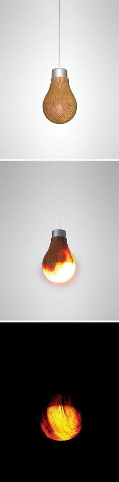 Wooden lamp. Wow. This is such a cool concept.