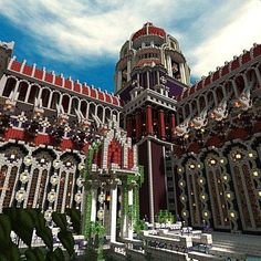 Temple of the Eternal Flame (huge server spawn) Minecraft Project