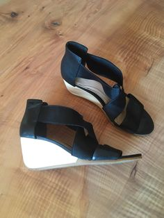 2492e7084c7 Camper Black Leather Wedges Size 40  fashion  clothing  shoes  accessories   womensshoes  sandals (ebay link)