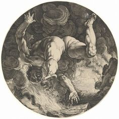 Hendrick Goltzius after Cornelis Cornelisz van Haarlem: Ixion, from the series The Four Disgracers (The Metropolitan Museum of Art) Fine Art Prints, Framed Prints, Canvas Prints, British Museum, Heritage Image, Photographic Prints, Art Reproductions, Gifts In A Mug, Poster Size Prints