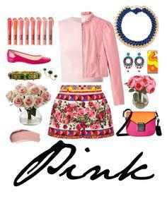 """Pink"" by michaeladay on Polyvore featuring Dolce&Gabbana, Simone Rocha, Aurélie Bidermann, Christian Louboutin, MCM, Dsquared2, Ayala Bar, Eshvi, no!no! and Burberry"
