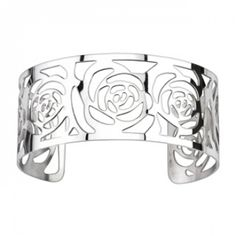 Product DescriptionSpikes Womens Stainless Steel Roses Pattern Cuff Bracelet Cut in an ornate multi-rose pattern, this trendy bracelet is the perfect accessory to any outfit. Easy to take on and off, this cuff bracelet easily extends a Trendy Bracelets, Love Bracelets, Fashion Bracelets, Bangle Bracelets, 316l Stainless Steel, Stainless Steel Bracelet, Girls Jewelry, Anklets, Fashion Accessories