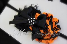 Halloween Headband / Infant Halloween by ManaiaBabyDesigns on Etsy, $7.50