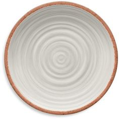 Tarhong Rustic Swirls Melamine Dinner Plate ($38) ❤ liked on Polyvore featuring home, kitchen & dining, dinnerware, white, melamine dinner plates, rustic dinnerware, bpa free melamine dinnerware, swirl plates and white plate