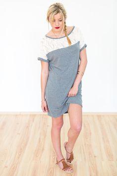 Entdecke lässige und festliche Kleider: Kleid Cutiepie grün grau mit Spitze made by SHOKO Shop via DaWanda.com