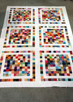 I would not consider recommending that you try to do this quilt in a single go, but, by cutting your scrap a little at a time and sewing a small amount on a regular basis, you get beautiful results...