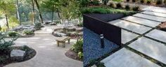 From stamped to stained, discover the top 60 best concrete walkway ideas. Explore front yard and backyard outdoor path designs for your home. Concrete Patio Designs, Outdoor Patio Designs, Concrete Walkway, Outdoor Pavers, Pavers Patio, Patio Stone, Brick Walkway, Patio Plants, Front Walkway Landscaping