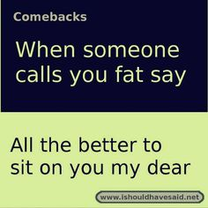 Best Comebacks Ever, Funny Insults And Comebacks, Amazing Comebacks, Snappy Comebacks, Clever Comebacks, Funny Comebacks, Savage Comebacks, Sassy Quotes, Sarcastic Quotes