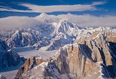 picture of Aerial Mt McKinley Mooses Tooth Alaska USA Image