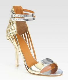 Givenchy-Metallic-Leather-and-Suede-Sandals