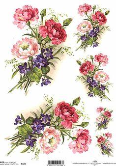 Ryžový papier na decoupage Rice Paper Decoupage, Decoupage Glue, Decoupage Printables, 3d Prints, Vintage Paper, Vintage Flowers, Flower Art, Creations, Card Making