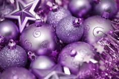 Purple ornaments for Christmas