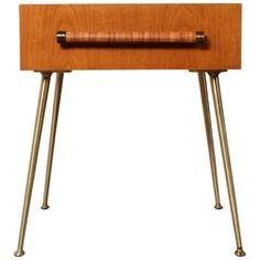 Nightstand Designed by T.H. Robsjohn-Gibbings for Widdicomb