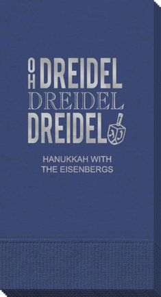 Personalized Oh Dreidel Guest Towels